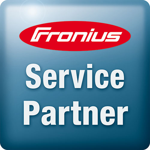 Fronius Service Partner badge with transparent background