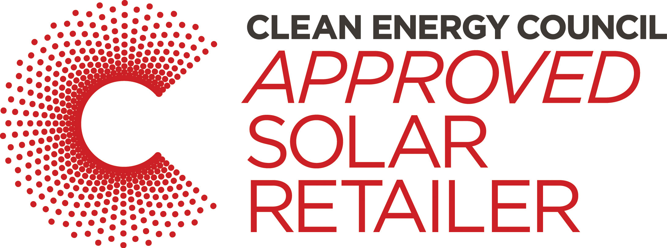 Clean Energy Council Approved Solar Retailer Badge with white background